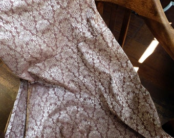 Vintage strapless Brocade Dress, Size 5, milk chocolate