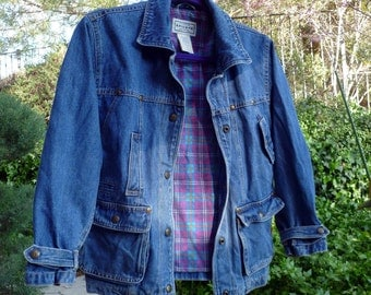 ARIZONA Jean Co. Jacket lined with soft Cotton Flannel, Size 10-12