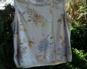 sleeveless Sweater, pastel flowers