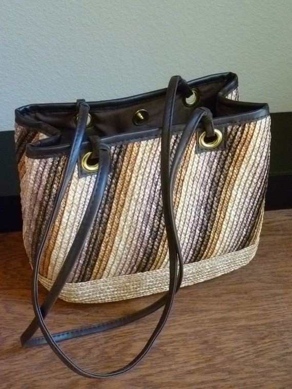 PURSE / Bag,  Wheat Straw, Spring / Summer