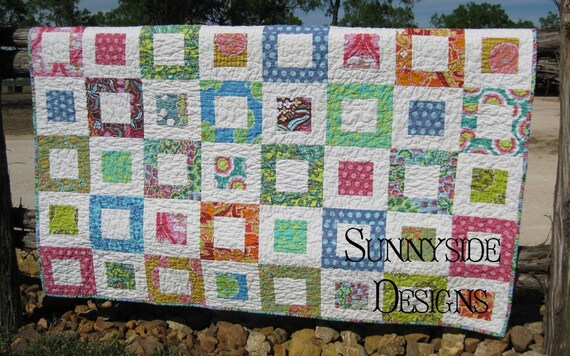 Colorful Bright Patchwork Quilt Soul Blossom BLACK FRIDAY ETSY
