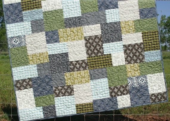 Quilt for Him Curious Nature Rustic Geometric