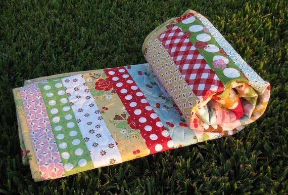 Baby Quilt Handmade Sew Cherry LAST ONE