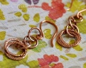 Array of Circles - Rose Gold Earrings