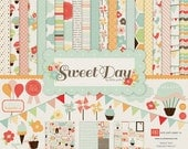 Echo Park Sweet Day 12x12 Paper Kit New 2012 Cup Cake Ice Cream Summer