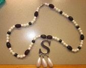 custom anne boleyn / ugly betty style pearl necklace