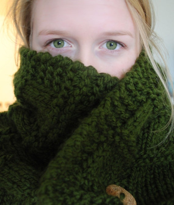 Cowl Neck  Scarf  - pattern -