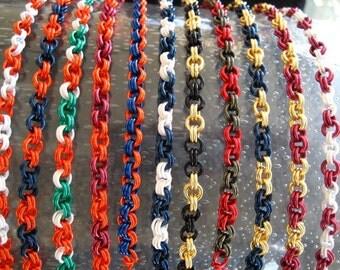School College Football Team Spirit  Bracelet KIT -- You choose Team Colors Kit with Instructions