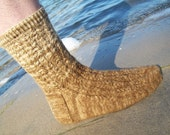 Intersector Cabled Mens Socks: PDF Knitting Pattern by The Sexy Knitter