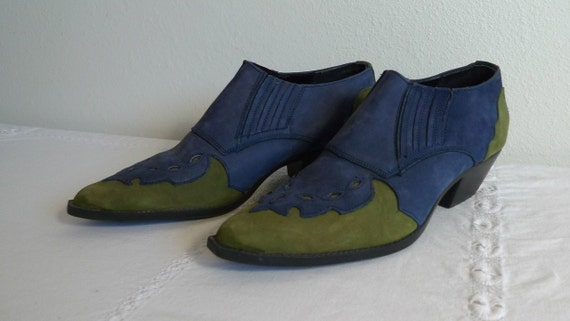Reserved for Suzie Vintage Chilis Western,Cowboy Leather Ankle Boots for Women, Size 8M