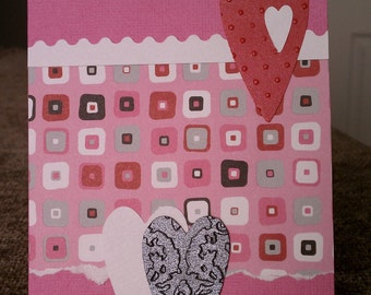 Valentine Card and Envelope Set of 6