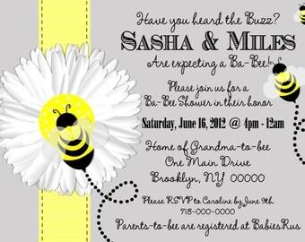 Mom to Bee Baby Shower Invitation, Bee Baby Shower Invitation, Bee Invitation, Gender Reveal Baby Shower, Ba-Bee Shower