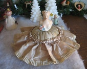 1920's Lady Chalkware Pin Cushion Doll