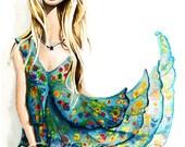 Flower Dress- 8.5x 11 Art Print