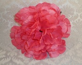 NEW to SHOP SINGLE Hot Pink Shabby Vintage Peony Flower