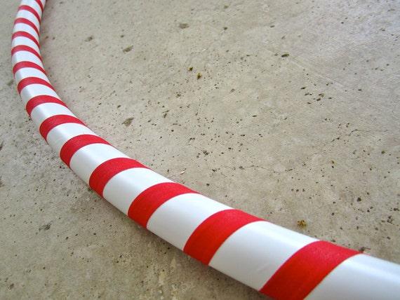 CUSTOM Peppremint Twist Collapsible Hula Hoop