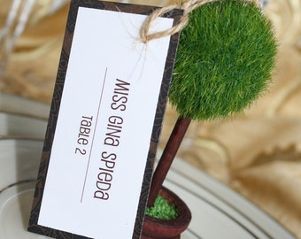 Chic Wedding Placecard Tags