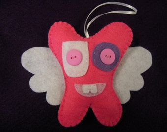 Pink Toothfairy Pillow