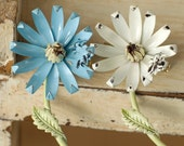 Two Vintage Daisy Pins With Bees