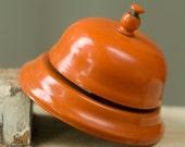 Orange School Bell Vintage