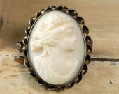 Vintage AMCO Carved Cameo Pin