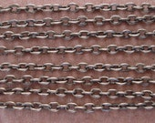 32ft Spool-Antique Bronze Flat  Cross Cable Chain-2x2.8mm.