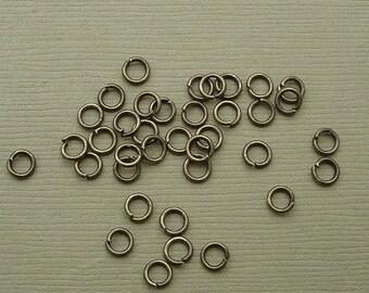 100pcs-Jump Rings, Antique Bronze Heavy Strong, OD-4mm, 21ga.