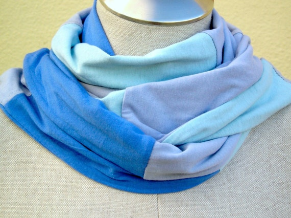 the BLUE PATCHWORK recycled jersey SCARF
