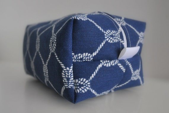 """Last one - """"Knotty"""" Cosmetic Bag - Toiletry Bag - Accessories Pouch"""