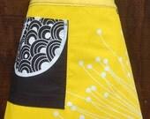 Sunshine Yellow Apron, bright, colorful, kitchen half apron