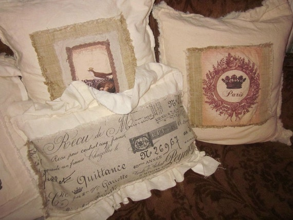 Shabby chic pillow