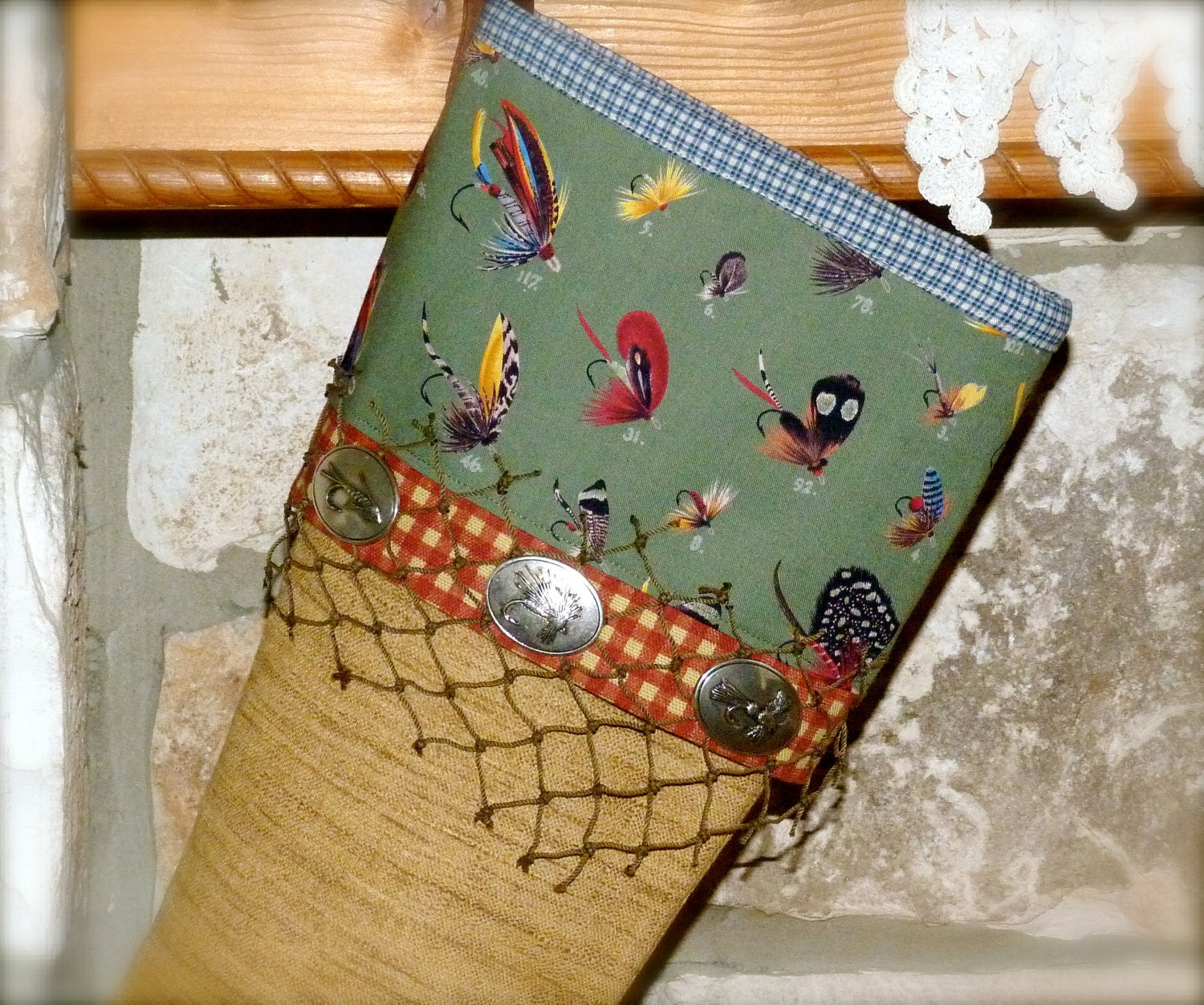Dead drift the fly fishing christmas stocking for Fish christmas stocking
