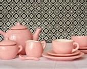 Child's Pink Tea Set- Service for Two - RAMCeramics