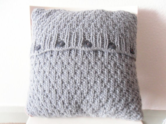Knitting Pattern For Cushion Cover Chunky Wool : Clearance sale Knitted Cushion Pillow Throw home decor