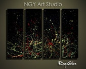 "NGY  36"" x 48"" R. Silva Original Modern Abstract Contemporary Fine Art Painting"