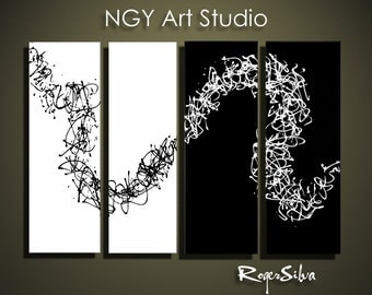"NGY  36"" x48"" Custom made R. Silva Original Modern Abstract Contemporary Fine Art Painting"