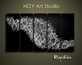 """NGY  36"""" x 60"""" Custom made R. Silva Original Modern Abstract Contemporary Fine Art Painting"""