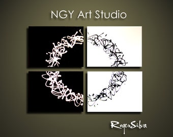 NGY  22  x  28 Custom made R. Silva Original Modern Abstract Contemporary Fine Art Painting