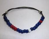 Men's Red White and Blue Ankle Bracelet