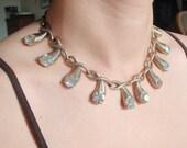 1960s Rhinestone Tear Drop Necklace