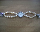 Genuine Pink Akoya Pearl Watch Bracelet - Free shipping