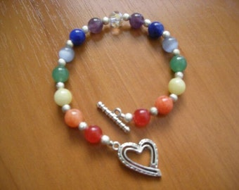 Chakra Bracelet - Handmade and Designed (Natural Gemstones)