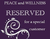 Reserved for Patti Hicks