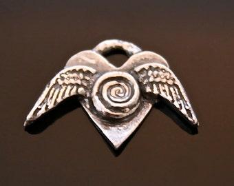 Flying Heart charm
