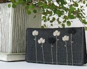 Jim - The Slim Card Wallet - grey, black flowers