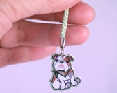 Kawaii Bazooks the Bulldog Cellphone Lanyard Acrylic Charm - Lasercut Plastic Cartoon Dog