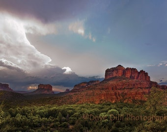 Photo Sedona Sunset Colors - 12x18 Matted and Framed Fine Art