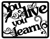 """Paper cut- """"You live you learn"""" wall art"""