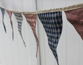 Patriotic Homespun Banner