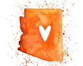 Arizona Love - Art Print 8x10 inch-Wall Art-Home decor-state poster